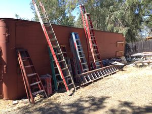 Multiple ladders and scaffolding for Sale in Oroville, CA