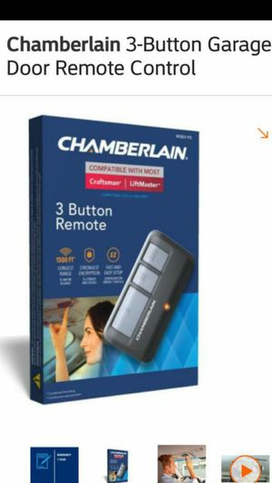 Chamberlain 3-Button Garage Door Remote Control for Sale in Las Vegas, NV