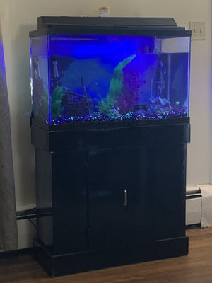 Fish tank with stand for Sale in North Smithfield, RI