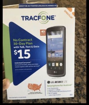 Cellphone , Trackfone , LG Rebel smartphone android , $29 for Sale in Burbank, CA