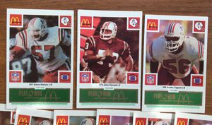 1986 McDonalds New England Patriots Football Card Complete Set for Sale in Middleton, MA