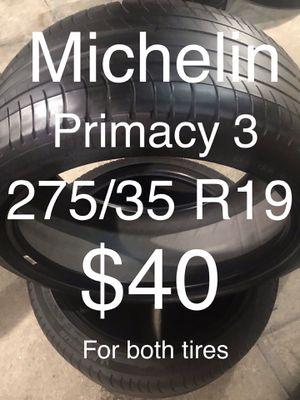 2 Michelin tires 275/35 R19 for Sale in San Leandro, CA