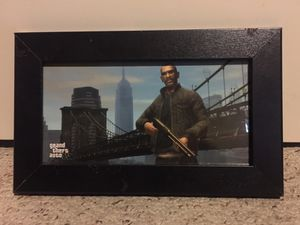 Grand theft auto IV framed Print blockbuster exclusive for Sale in Houston, TX