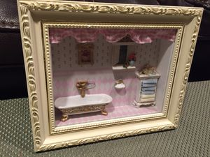 3D Shadow Box Picture of Victorian Bathroom for Sale in Des Plaines, IL