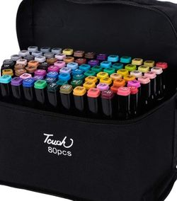 Artist Marker Set 80 Color Dual Tip Permanent Alcohol Based Markers Colored Artist Drawing Marker Pens,Highlighter Pen Sketch Markers for Drawing Sket for Sale in Stone Mountain,  GA