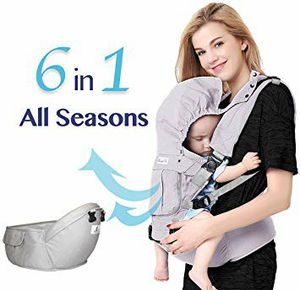 Bonne Vie Baby Ergonomic Carrier with Hip Seat for Toddler & Infants - Organic Cotton Backpack Sling - 6-in-1 All Seasons for Sale in Mount Oliver, PA