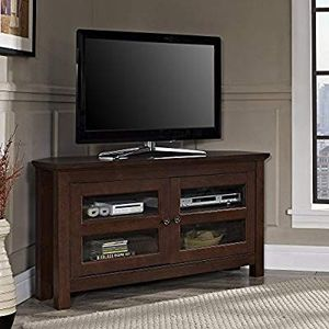 "Walker Edison 44"" Brown Wood Cordoba Corner TV Stand Console for Flat Screen TV's Up to 50"" Entertainment Center for Sale in Rolla, MO"