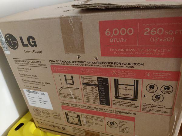 LG AC window unit - open box