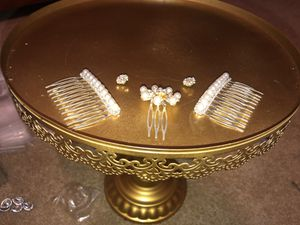 Bridal Hair Embellishments, Wedding, Wedding Shower, Bridal Shower, Engagement Shower; Pearls and Swarovski Crystals for Sale in Plainfield, IL