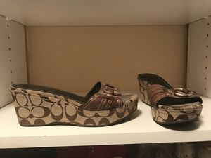 Coach wedges size 7.5 $50 ( negotiable) for Sale in Los Angeles, CA