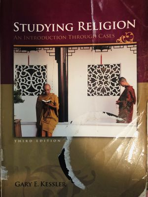 Studying religion an introduction through cases by Gary E. Kessler 3rd edition for Sale in Chamblee, GA