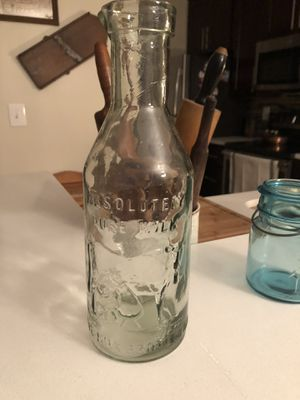 Absolute clear milk diary bottle for Sale in Ashburn, VA