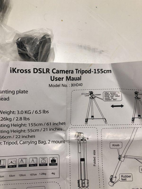 IKROSS DSLR 61 INCH PROFESSIONAL TRIPOD