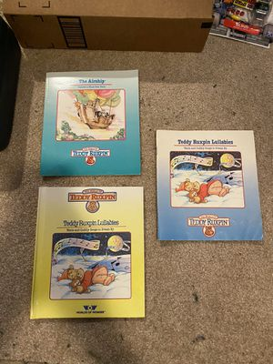 Lot of 3 Children's books The World Of Teddy Ruxpin Teddy Ruxpin Lullabies The AirShip Warm And Cuddly Songs To Dream By kids book for Sale in Buena Park, CA