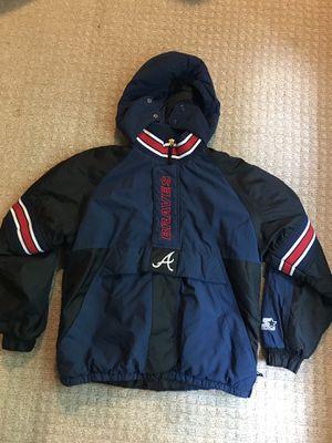 Vintage Atlanta braves Starter pull over jacket for Sale in Marietta, GA