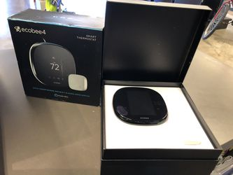 Ecobee4 smart thermostat w room sensor and built in Alexa no trades pick up in Tacoma for Sale in Joint Base Lewis-McChord,  WA