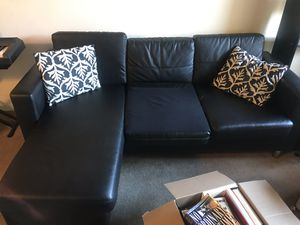 Black couch for Sale in Los Angeles, CA