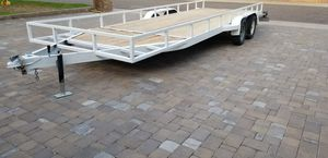 Utility Trailer / Flat Bed / Enclosed , 20 ft 8 inches long x 6ft 5 inches wide. New Wood, Title in hand, Good Tires, 2 inch ball. Ramp, Dual Axle for Sale in Phoenix, AZ