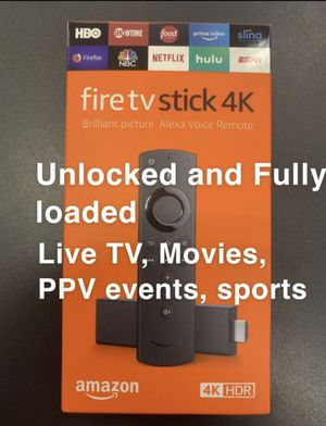 Loaded Amazon fire the stick for Sale in Chicago, IL