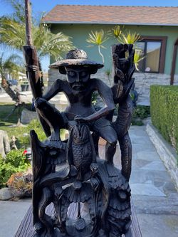 Wood Fishing Man for Sale in Westminster,  CA