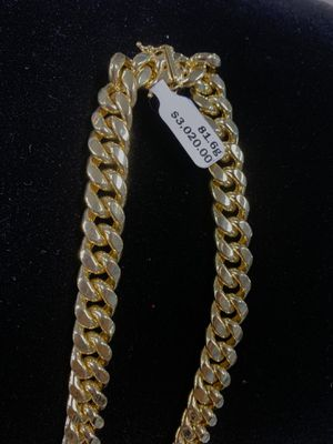 "Hollow Miami Cuban Chain 10k & 13mm & 28"" & 81.6gms for Sale in Kissimmee, FL"