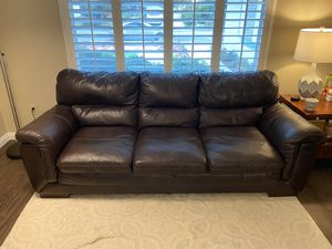 Leather Couch Sofa 3-Seats for Sale in Rancho Cucamonga, CA
