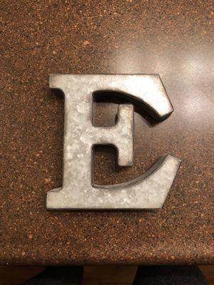 Letter E galvanized metal sign for Sale in Newport Beach, CA