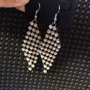 Clear diamond stone long dangle earrings for Sale in Columbia, SC