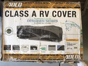 """Class A RV cover for 40-1""""-43"""" in length never been used and RV tire covers for Sale in Henderson, NV"""