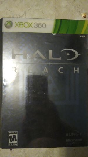 Xbox 360 Halo limited edition games plus poster map for Sale in San Antonio, TX