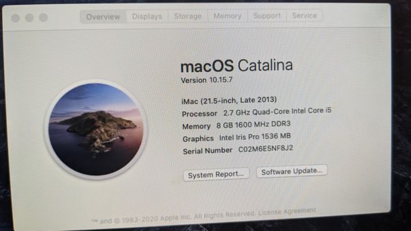 iMac 21.5 inch ssd ready for zoom google classroom etc