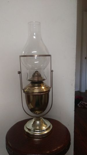 Vintage antique EAGLE ship swing brass oil lamp for Sale in Richmond, VA
