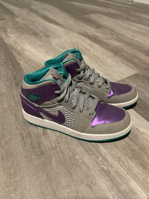 Air Jordan 1 Phat teal grey purple shiny sneakers for Sale in Bellingham, WA