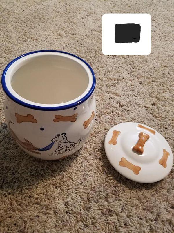 Dog cookie jar