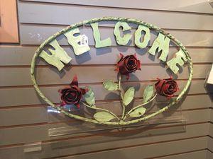 Metal welcome door sign beautiful for Sale in Wenatchee, WA
