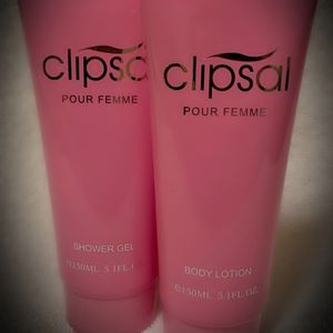 SET Clipsal Pour Femme Parfum/Perfume Scented Bath/Shower Gel/Body Lotion France/French Full Lux Sz 5.1 oz NEW for Sale in San Diego, CA