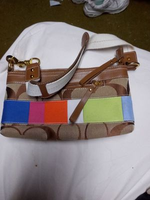Multi colored small coach purse for Sale in Danvers, IL