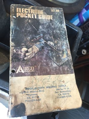 Electrode welding Pocket guide for Sale in San Bernardino, CA