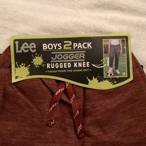 LEE YOUTH BOY'S - 2 PACK JOGGER RUGGED KNEE PANTS. SIZE S - 7/8 for Sale in Boca Raton, FL