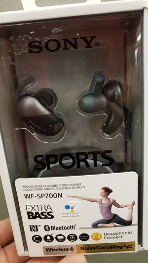 SONY true wireless earbuds wf-sp700n UNOPENED for Sale in Houston, TX