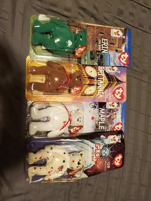 1999 McDonalds Beanie Babies international plush complete set all 4 brand new in box for Sale in Morton Grove, IL