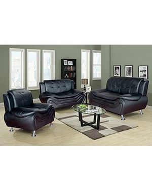 Brand New Black 3pc. Sofa love seat and chair for Sale in Austin, TX