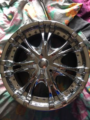 Wired WI-19. 17 inch 4 lug universal rims with almost new tire Universal 4 lug Wired WI-19 17inch. 4x114.3 4x108 and a few more patterns they fit. No for Sale in Essex, VT