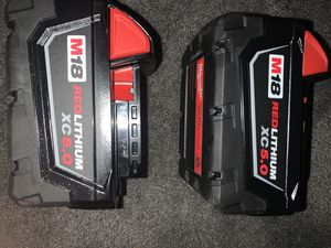2 M18 Milwaukee red lithium xc 5.0 brand new for Sale in Sacramento, CA