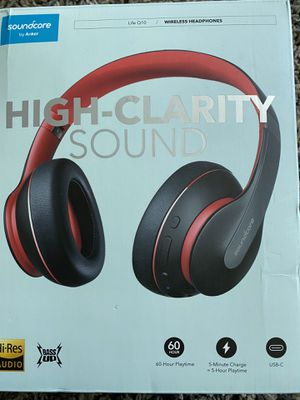 Sound core life Q10 wireless headphones for Sale in La Vergne, TN
