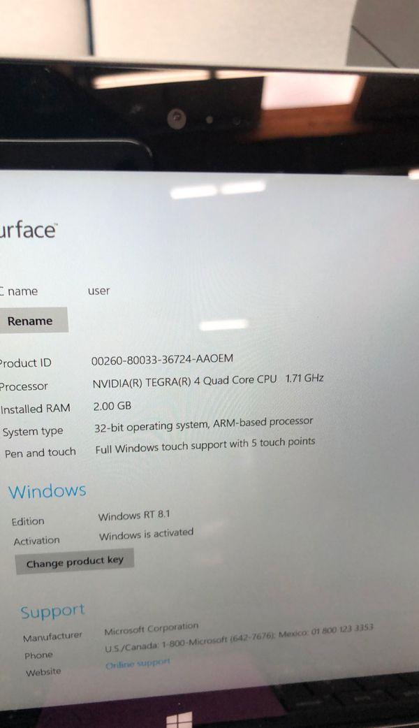 Microsoft surface 1st gen