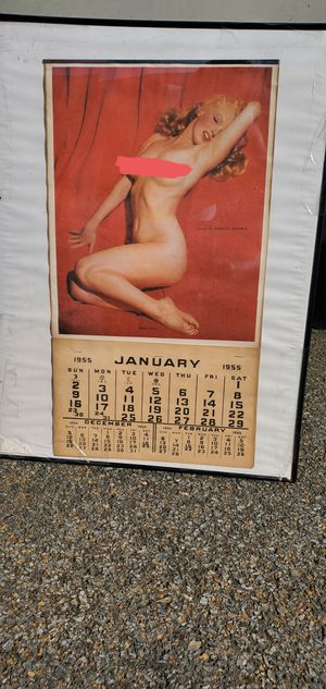 1955 Marilyn Monroe calender for Sale in Columbia, PA