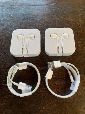 Apple Lightning Cables + EarPods for Sale in Danville, CA