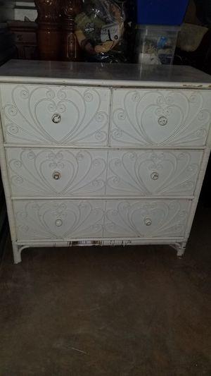 Wicker design dresser for Sale in Manassas, VA