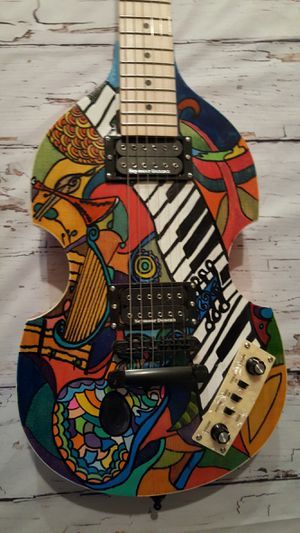 Custom Handpainted Violin Shaped Hollow Guitar NEW for Sale in Stafford Township, NJ